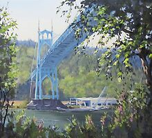 St Johns Bridge by Karen Ilari