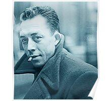 Albert Camus Blue Poster