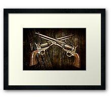 A Brace of Navy Colt Revolvers Framed Print