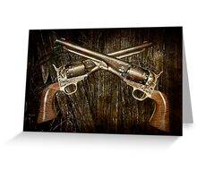 A Brace of Navy Colt Revolvers Greeting Card