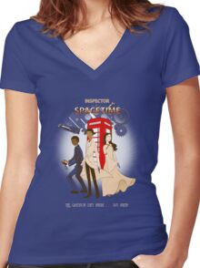 Inspector Spacetime II Women's Fitted V-Neck T-Shirt