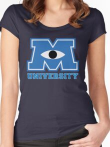 Monsters U Women's Fitted Scoop T-Shirt