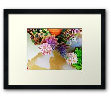 Blooming hens and chicks 2 Framed Print