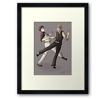 Turns out dance lessons were not such a bad idea after all Framed Print