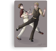 Turns out dance lessons were not such a bad idea after all Canvas Print