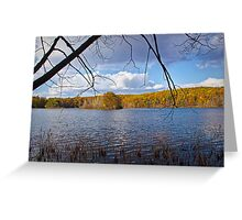 Hall Lake in Autumn Greeting Card