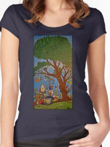 Picnic under Tree Women's Fitted Scoop T-Shirt