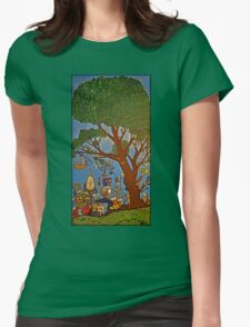Picnic under Tree Womens Fitted T-Shirt