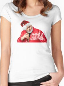 DJ Khaled Santa (variations available) Women's Fitted Scoop T-Shirt