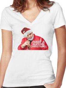 DJ Khaled Santa (variations available) Women's Fitted V-Neck T-Shirt