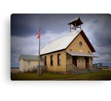 Old Country Schoolhouse Canvas Print