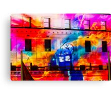 The Light Bright Tardis 2 Canvas Print