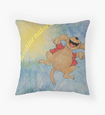 Sunshine makes me happy :) Throw Pillow