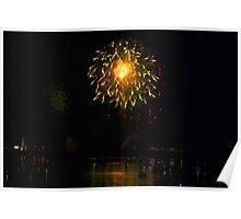 Fireworks Over Market Street Bridge Poster