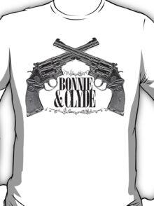 Bonnie & Clyde Crossed Guns T-Shirt