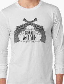 Bonnie & Clyde Crossed Guns Long Sleeve T-Shirt