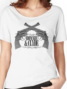 Bonnie & Clyde Crossed Guns Women's Relaxed Fit T-Shirt