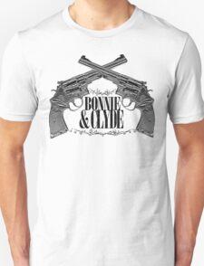 Bonnie & Clyde Crossed Guns Unisex T-Shirt