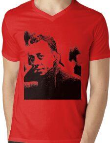 Albert Camus Toon Mens V-Neck T-Shirt