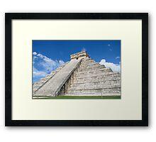 The Pyramid at Chichen Itza, Mexico Framed Print