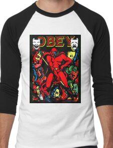 Obey Men's Baseball ¾ T-Shirt