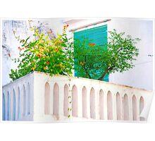 Balcone con fiori.. Poster