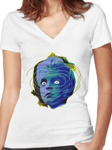 Head of the Damned Women's Fitted V-Neck T-Shirt