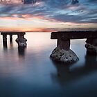 Mentone Groyne, Summer Sunset by Vicki Moritz