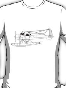 de Havilland Canada (DHC-2) Beaver Blueprint T-Shirt