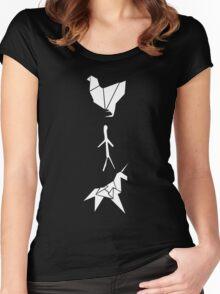 Blade Runner - Origami (Dark) Women's Fitted Scoop T-Shirt