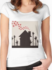 Love house Women's Fitted Scoop T-Shirt