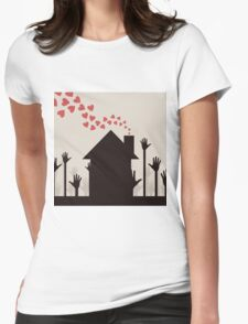Love house Womens Fitted T-Shirt