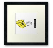 I phone You Tube Framed Print
