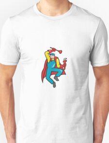 Super Plumber Plunger Wrench Cartoon T-Shirt