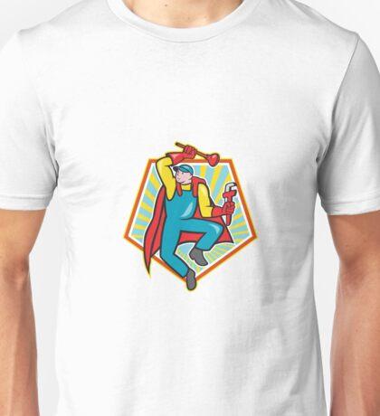 Super Plumber Plunger Wrench Cartoon Unisex T-Shirt