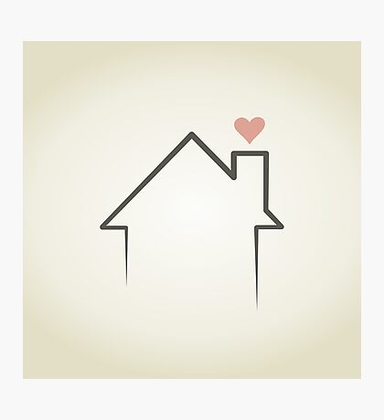 Love the house Photographic Print