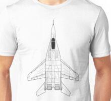 Mikoyan MiG-29 Fulcrum Blueprint Unisex T-Shirt