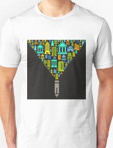 Pencil the house Unisex T-Shirt