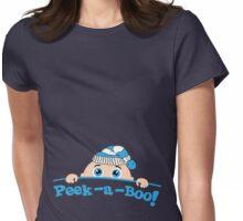 Peek a Boo Winter Womens Fitted T-Shirt