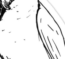 cocky on a perch Sticker