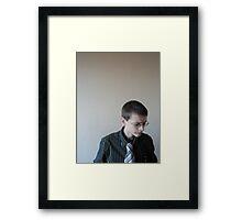 Smart Boy Framed Print