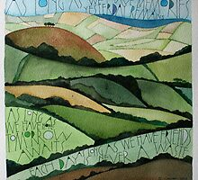 View from Hardown Hill by samcannonart