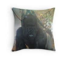 Gorilla through Glass Throw Pillow