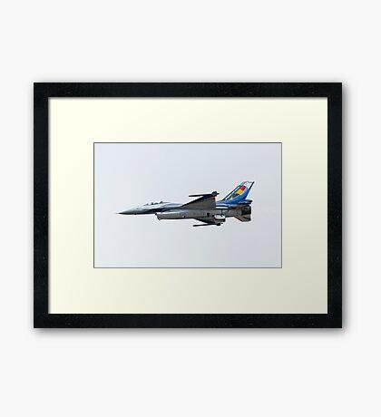 Belgian Air Force Display Plane Framed Print