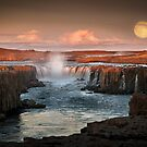 Selfoss on Mid-Sommer night by Karen Scrimes