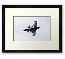 Euro Fighter Takes The Strain Framed Print