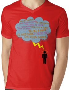 life makes ECHOES. (stick boy.) Mens V-Neck T-Shirt