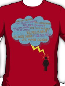 life makes ECHOES. (stick girl.) T-Shirt