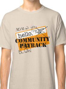 community BLOWBACK. Classic T-Shirt
