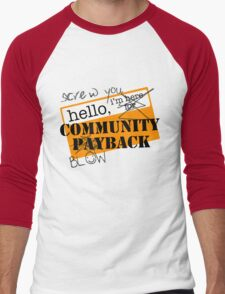 community BLOWBACK. Men's Baseball ¾ T-Shirt